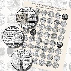 Images,Digital,Stickers,Collage,Illustration,bottlecap,bottle cap,quack,patent,medicine,advertisements,victorian