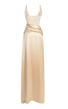 Gala Dresses, Event Dresses, Formal Dresses, Beautiful Gowns, Beautiful Outfits, Satin Gown, Silk Satin, Silk Gown, Dream Dress