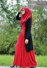 Kapalı Abiye Modelleri Kırmızı
