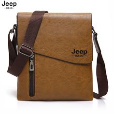 [ $13.80 ] JEEP BULUO 2017 New Style Male Tote Bag High Quality Leather Messenger Bags For Men Fashion Crossbody Travel Bags Hobos