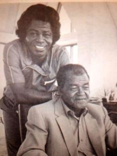James Brown with his father