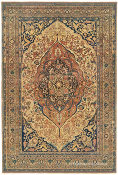 Hadji Jallili (Haji Jalili) Tabriz, 6ft 9in x 10ft 0in, Circa 1850.  At the very great age of over 160 years, this resplendent collector caliber Oriental carpet from the renowned Persian rug designer Hadji Jallili possesses an expressive, lyrical aesthetic that would contribute sublime beauty to a refined decor.  http://online.wsj.com/article/PR-CO-20120828-909511.html