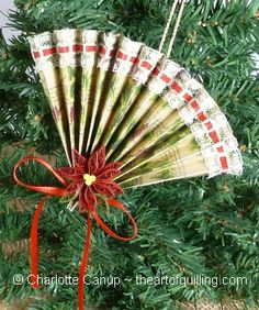 I have made these.  They are great as ornaments or as gifts: paper, lace, and ribbon.