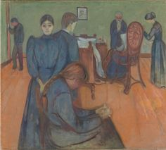 Death in the Sick Room (1893). Edvard Munch. - #Art #LoveArt https://wp.me/p6qjkV-kCc
