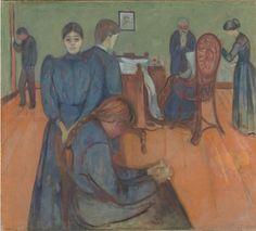 Death in the Sick Room (1893). Edvard Munch. - https://wp.me/p6qjkV-kCc  #Art