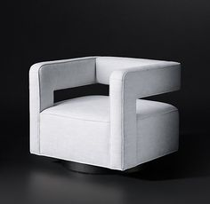Statement chair possibility to left of fireplace. Use Cool fabric. Drew Fabric Chair