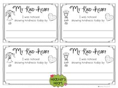 Catch your kiddos showing their kind hearts with this little note to send home with them.