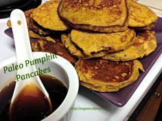 Paleo Pumpkin Pancakes via Organically Mo