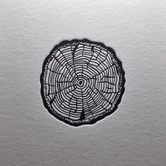 """RINGS"" My little sketch turned into letterpress... 