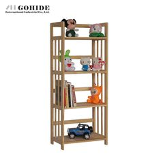 149.27$  Watch now - http://aliuk7.worldwells.pw/go.php?t=32599720184 - Gohide DIY Pine Bookcase 4 Layer Puzzle Wood Storage Rack Child Bookshelf Living Room Furniture Bookcase Home Furniture 149.27$