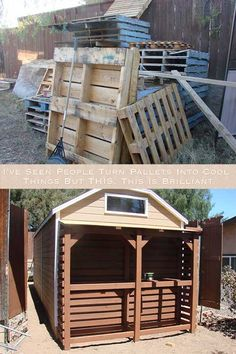 I've Seen People Turn Pallets Into Cool Things. But THIS, This Is Brilliant