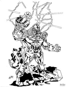Thanos inked. by DyanBermeo.deviantart.com on @deviantART