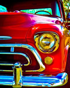 57 Chevy Trucks, Old Trucks, Chevrolet Apache, Car Wall Art, Classic Pickup Trucks, Bike Photo, Car Themes, Hood Ornaments, Us Cars