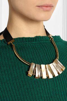 Marni | Позолоченный, рога и кристально ожерелье | NET-A-PORTER.COM