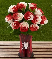 The FTD® University of Utah® Utes™ Rose Bouquet - 12 Stems - VASE INCLUDED Starting at $49.99 roses and collegiate teams