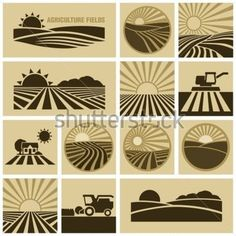 Find Agriculture Field stock images in HD and millions of other royalty-free stock photos, illustrations and vectors in the Shutterstock collection. Logos, Agriculture, Clip Art, Logo Samples, Farm Design, Cool Posters, Vector, Farm Logo Design, Farm