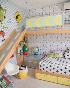 Bedroom Design Ideas – Create Your Own Private Sanctuary Baby Bedroom, Kids Bedroom, Kids Room Design, Kid Spaces, Boy Room, Kids Furniture, Room Decor, Montessori Room, Cocinas Kitchen