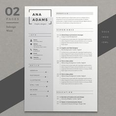 Resume Ana by Estartshop on @creativemarket