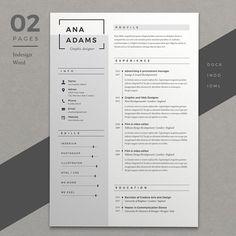 Resume Ana by Estartshop on @Graphicsauthor