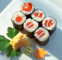 Procurando nemo, hahahahaha virou sushi!!!