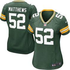Nike Clay Matthews Green Bay Packers Women's Green Game Jersey