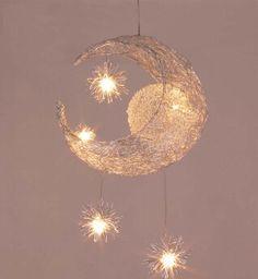 Kid chambre éclairage moderne mode lune et étoiles Pendant Lights lampes de chambre d'enfant en aluminium Chander pour salon décoration de la maison(China (Mainland))