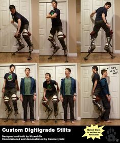 Custom Digitigrade Stilts by CanineHybrid.deviantart.com on @deviantART