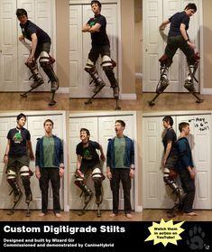 Custom Digitigrade Stilts by CanineHybrid.deviantart.com on @deviantART
