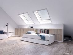 Loft Room Ideas That Will Give You Extra Floor Space Ver.) 💘 Learn Unique Loft Small Home Inspiration That Will Give You Extra Floor Space 🔑 Loft Room, Bedroom Loft, Bedroom Decor, Bedroom Small, Small Rooms, Small Spaces, Bedroom Ideas, Master Bedroom, Attic Bedroom Designs