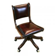 Swivel desk chair - leather