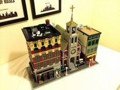 With a couple other custom buildings - Modular Lego Church
