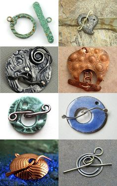 Artisan Toggle Clasps, featuring my Metalwork Spiral! #designsbycher #jewelryonetsy #metalwork https://www.etsy.com/treasury/Mjk1NDg5ODl8MjcyMjI3MjEzOQ/i-love-a-good-toggle --Pinned with TreasuryPin.com