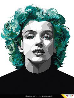 MARYLIN MONROE in WPAP (Wedha's Pop Art Portrait) By Dimas by Rizki Dion, via Flickr