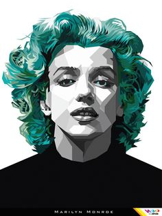 MARYLIN MONROE in WPAP (Wedha's Pop Art Portrait) By Dimas by Rizki Dion, via Flickr