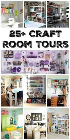 Over 25 amazing craft room tours! Get inspired to create your own craft studio with these organized craft rooms! by goldie