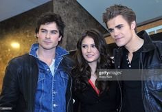 Ian Somerhalder, Nina Dobrev and Paul Wesley from 'The Vampire Diaries' visits Hot Topic at Garden State Plaza on January 30, 2010 in Paramus, New Jersey.