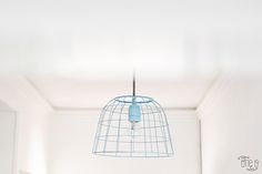 DIY Pendant Lamp From A BAsket (1)