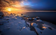 Landscape from Sotkamo, Finland Dec 2015 All Over The World, Sunset, Water, Outdoor, Landscapes, Collection, Paisajes, Fotografia, Finland