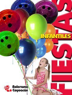 Cartel para la promoción de fiestas infantiles en el Bol Coyoacán