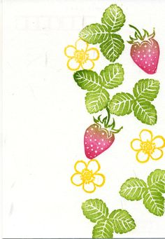 Strawberry rubber stamp  いちご消しゴムハンコ  by NanaAkua
