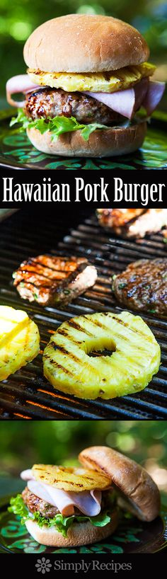 Pork Burger ~ A Hawaiian-inspired pork burger with ground ginger ...