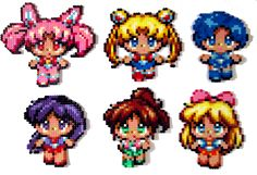 Little Inner Senshi hama perler beads by Aenea-Jones on deviantART