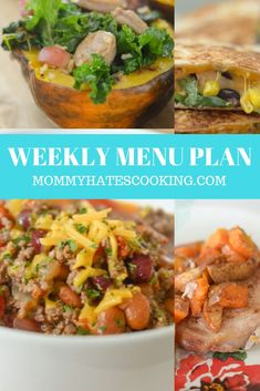 Weekly Menu Plan Weekly Menu Planning, Weekly Meal Planner, Meal Planning, Great Recipes, Favorite Recipes, Recipe Collections, Easy Meals, October, How To Plan