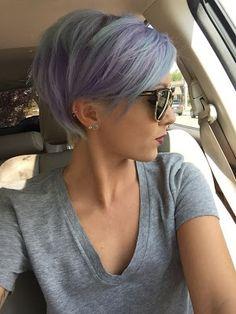 Beauty Lover: Look do dia 10 #lidiceba #beautyloverbylidice #cabelo #cabelocurtinho #cabelolilas #cabelotonspastel #batom #batomvermelho