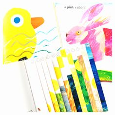 A collection of arts and crafts for children inspired by the picture books of Eric Carle. Cute Kids Crafts, Creative Activities For Kids, Creative Kids, Projects For Kids, Diy Projects, Artists For Kids, Art For Kids, Book Crafts, Arts And Crafts