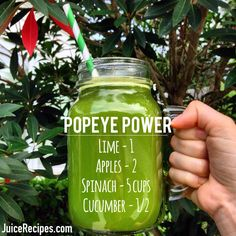 Power up with Popeye Power juice! It's simple, delicious, and FULL of nutrients!