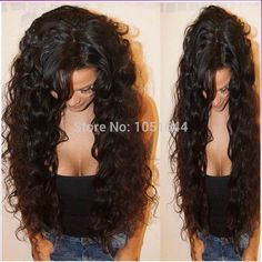 Virgin Brazilian Hair Human Hair Wigs Curly Front Lace Wig  Glueless Full Lace Wigs for Black Women 16inch full lace wig ** Learn more by visiting the image link.(This is an Amazon affiliate link and I receive a commission for the sales)