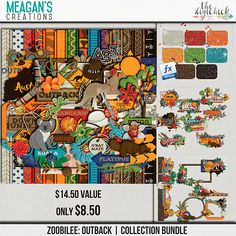 This kit is packed full with items from the land down under! Zoobilee: Outback by Meagan's Creations is perfect for those zoo pages from the Australia habitat at the zoo or even a visit the land down under itself!