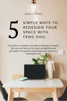 Feng Shui is complex and takes a lifetime to master. But you can borrow the more straightforward principles to organize and design your home in a minimalist way. Feng Shui Basics, Feng Shui Principles, Feng Shui Tips, Minimalist House Design, Minimalist Living, Minimal Design, Feng Shui Home Office, Minimalist Lifestyle, Minimalist Fashion