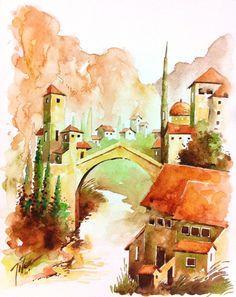 Mostar Bridge, Bosnia-I by tilenti.deviantart.com on @DeviantArt